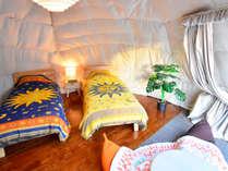 *【和洋室一例】ツインベッドと布団3組で最大5名様まで宿泊可能
