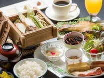 新鮮地元野菜が自慢の健康和朝食