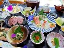 ■地元食材中心にご用意いたします夕食イメージ/朝夕とも個室にて