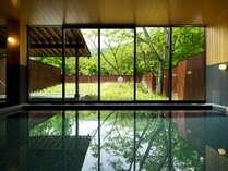 【大浴場イメージ】夏は新緑の森を眺めながら名湯・鬼怒川の湯をお楽しみいただけます。