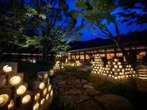 冬の庭を灯す催し「大谷石灯り」