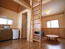 *【部屋】お部屋はロフトタイプのログキャビン。広々として使いやすい設計となっております。