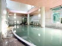 絹笠の湯(大浴場)温泉浴場では雲仙でNo1の広さ!