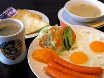 ホテルタイプ朝食付き ※朝食の1例です。