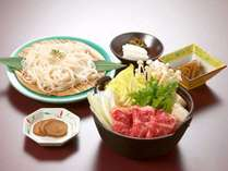 黒毛和牛 秋田牛すき焼き鍋 と 稲庭うどんセット+朝食プラン