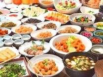 手作りメニュー豊富で人気のバイキング朝食!(月~金6:30~9:00 土日祝7:00~9:00)