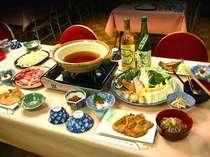 新鮮な信州の旬の味覚をどうぞ・・・・鍋物の例