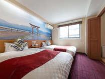 H29年2月改装のデラックスツインルーム(和洋室)