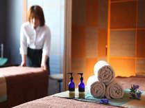 湯田中温泉では当館だけのアロマエステ。疲れた身体を丁寧にケアしましょう☆
