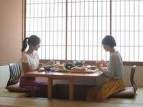 【個室朝食】プランによって、ご朝食は個室か和洋バイキングよりお選びいただけます。