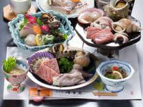 *■隠岐海鮮石焼(一例)■島根和牛・ひおうぎ貝・さざえなどをジュワ~っ!とっても美味しいですよ♪