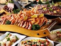 【和洋中ディナービュッフェ】スイーツも握り寿司も道産牛ローストビーフもズワイ蟹足も食べ放題!