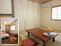 和室とツインルーム。お部屋のご要望を頂いても、添えない場合がございます。