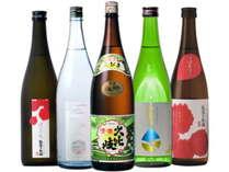 「頸城酒造」自慢の地酒たち。キレ、コク、香り、旨味。それぞれ特徴の異なる5種。