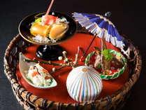 「山のごちそう」をコンセプトに生寿苑の里山の創作会席をお召し上がりください。