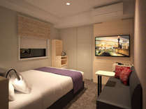 ◇EXダブルルーム◇ベッド幅160cm・部屋17㎡・テーブル・バス、トイレ、洗面所別