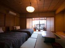 【新館 客室一例】一部屋一部屋、趣が異なる7部屋。落ち着いた和の雰囲気を大切にしています。