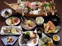 水軍海賊盛りプランの夕食一例