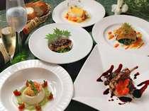 コース一例。ひと品ひと品、心を込めて。彩鮮やかな宝石のようなお料理♪の画像