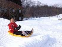 シェラリゾート白馬の広~い庭でも雪で遊べます♪の画像