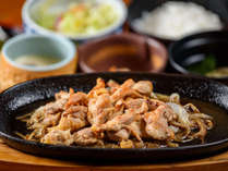 【朝・夕食付】★地鶏焼き定食を食べて 温泉をのんびり堪能出来るニャンプラン