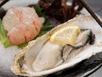 *自慢のご夕食(一例、季節により内容は異なります) 濃厚でクリーミー♪生牡蠣