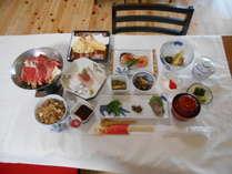 旬の食材を使った会席料理とたこ飯