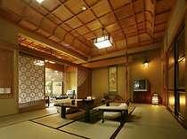 【藤の間】組子細工の建具で装った13帖和室