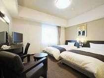 ■コンフォートツイン◆上質◆高層階◆明るく高級感がある落ち着いた客室。