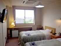 *【ツインルーム(禁煙)例】ベッド派の人には嬉しいお部屋