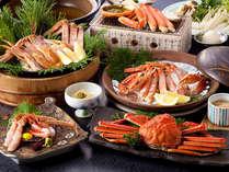 かに三昧コース♪合計3杯相当の蟹を使用したコース!陶板焼きと炭火焼、二通りの焼き蟹をどうぞ(*^_^*)