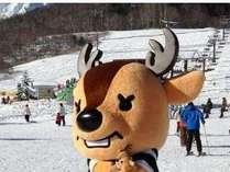リフト券付き宿泊パック安さ大好評♪しましかクン 鹿島槍スキー場でお待ちしてまーす♪