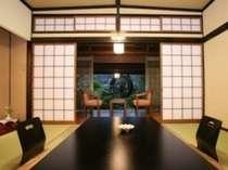 【花の舎】日本庭園を望む落ち着いた和の佇まい/一例