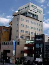 最上階が展望風呂。JR野田へ徒歩2分、地下鉄玉川駅出口前の駅前ホテル