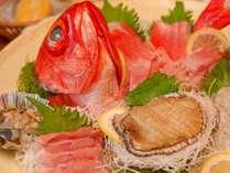 新鮮な伊豆の絶品アワビ&金目鯛プラン♪<BAコース>