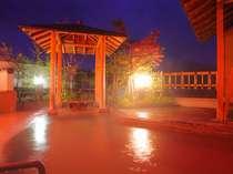 夜6時から12時まで時間帯貸切可能な地上7階の展望露天風呂(事前予約不可、予約はチェックイン時のみ)