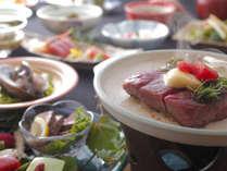 山形牛ステーキ御膳料理例