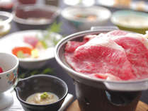 夕食例山形牛すきやき付き調理長お勧めの創作会席膳
