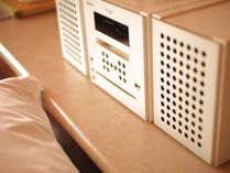 【和・モダンスイート 洋室ツイン】CD・MD・USB対応コンポ