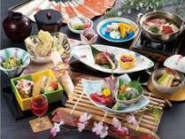 大河ドラマにちなんだ食材等を取り入れた春のお勧め会席です。さらに嬉しいお土産付き!【女城主直虎会席】