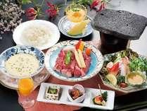 ◆WEB予約限定◆《直前割引がオトク!!》富士山溶岩プレートで焼く【ステーキプラン】