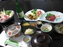 自家産のお米・野菜・山菜・地元食材の旨みを活かした故郷料理(1例)