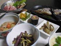 郷土色豊かな手料理(夕食1例)