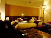 イチオシ!広々客室スーペリアツイン☆セミダブルベッドを2台配置した24㎡の新客室です♪