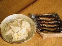アユの甘露煮と高野豆腐の煮物
