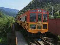 風情あるトロッコ電車♪自然を眺めながらのんびりした移動もいいですね