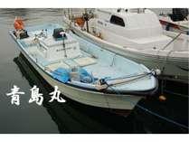 自社の船(青島丸)でも漁!《当館前の漁港より》