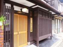 京町屋の建物は、京都らしい風情があります。