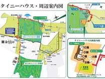 別荘地内のコテージになるのでこちらの地図をご参照ください