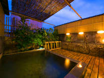 ◆【男性露天風呂・月の湯】当館自慢の≪屋上露天風呂≫では、満天の星空をご覧いただけます